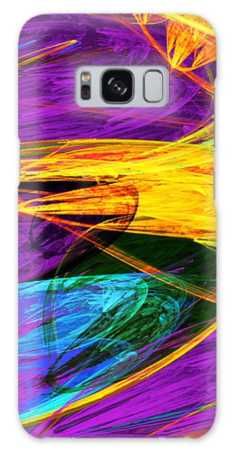 Butterfly Galaxy S8 Case featuring the photograph Fractal - Butterfly Wing Closeup by Susan Savad
