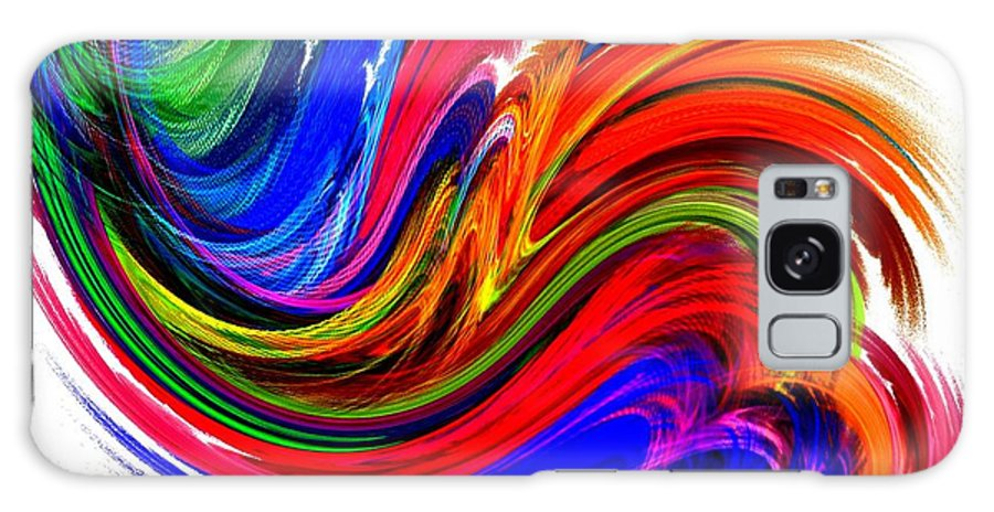 Fractal Galaxy S8 Case featuring the digital art Fractal Colors On White by Maurisca Sardju