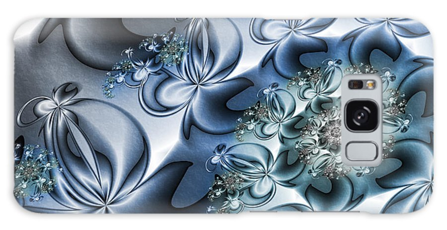 Digital Art Galaxy S8 Case featuring the digital art Fractal Dancing The Blues by Gabiw Art