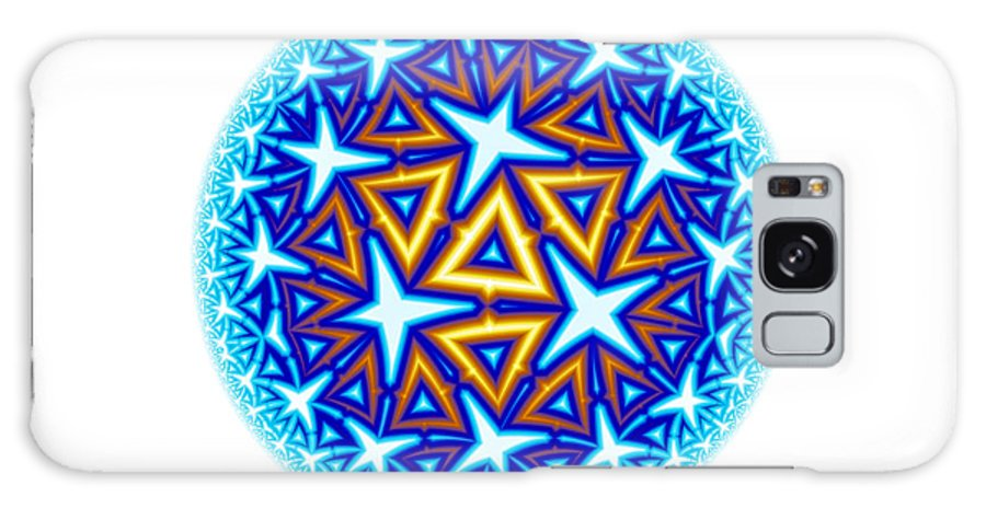 Mandala Galaxy S8 Case featuring the digital art Fractal Escheresque Winter Mandala 10 by Hakon Soreide