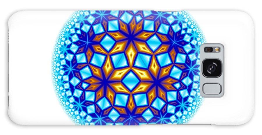 Mandala Galaxy S8 Case featuring the digital art Fractal Escheresque Winter Mandala 7 by Hakon Soreide