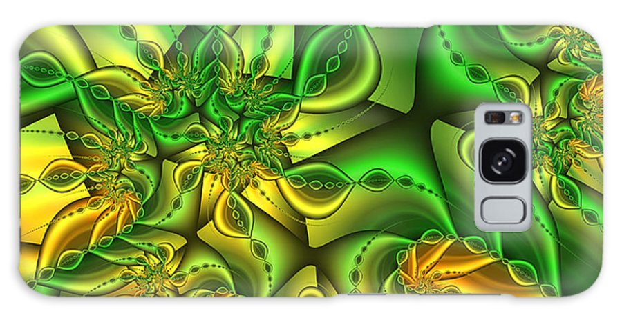 Digital Art Galaxy S8 Case featuring the digital art Fractal Gold And Green Together by Gabiw Art