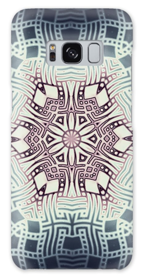 Abstract Galaxy S8 Case featuring the digital art Fractal Snowflake Pattern 1 by Hakon Soreide