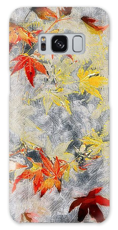 Ferns Galaxy S8 Case featuring the painting Fragments Of Fall by RC DeWinter