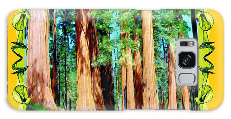 Trees Galaxy S8 Case featuring the painting Framed Sequoias by Bruce Nutting