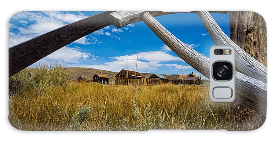 Framed View Of Bodie Ghost Town Galaxy S8 Case featuring the photograph Framed View Of Bodie Ghost Town by Jerome Obille