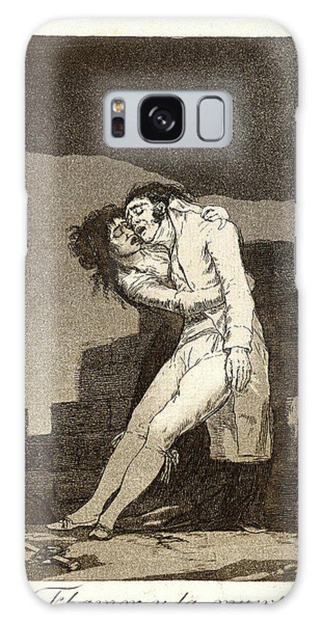 Francisco De Goya Galaxy S8 Case featuring the drawing Francisco De Goya Spanish, 1746-1828. El Amor Y La Muerte by Litz Collection