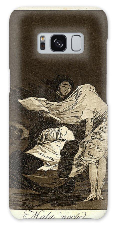 Francisco De Goya Galaxy S8 Case featuring the drawing Francisco De Goya Spanish, 1746-1828. Mala Noche. A Bad by Litz Collection