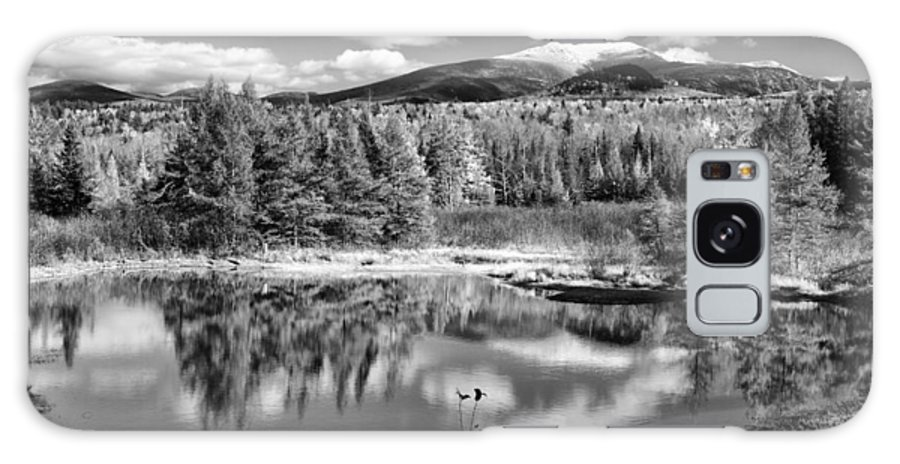 Franconia Ridge Galaxy S8 Case featuring the photograph Franconia Ridge Reflection B And W by Shell Ette
