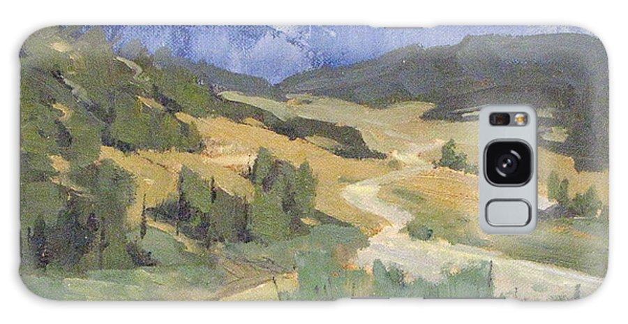 Plein Air Galaxy S8 Case featuring the painting Frazier Park Road by Ernie Dollman