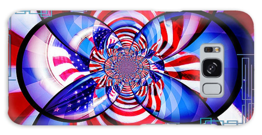 American Flag Galaxy S8 Case featuring the photograph Freedom Abstract by Aurelio Zucco