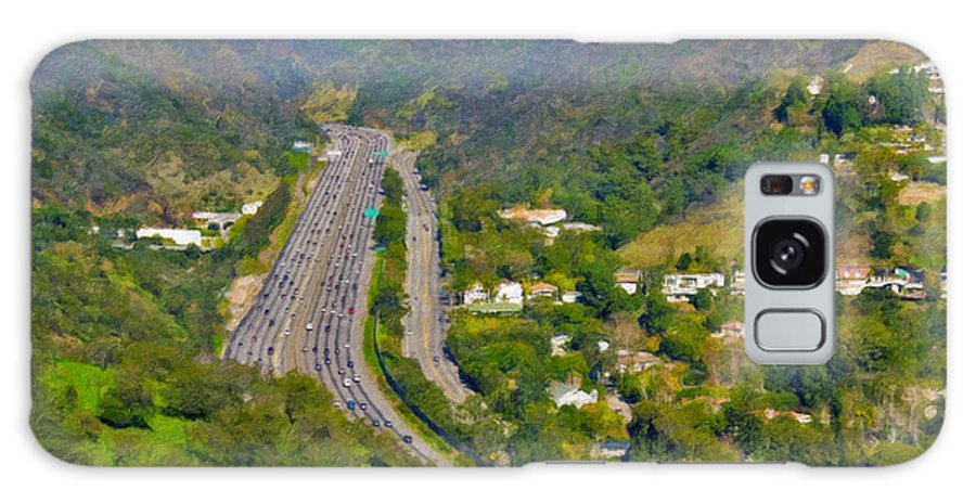 L-405 Sepulveda Pass Traffic Bel Air Crest California Galaxy S8 Case featuring the photograph Freeway Sepulveda Pass Traffic Bel Air Crest California by David Zanzinger