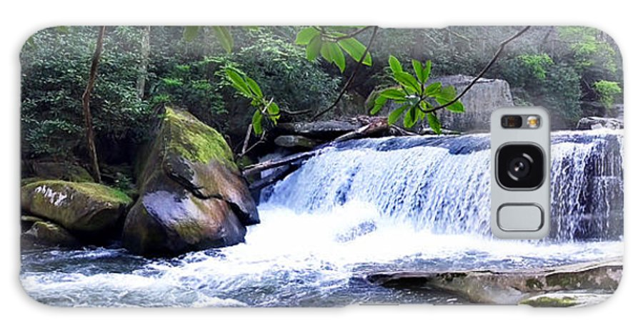 Duane Mccullough Galaxy S8 Case featuring the photograph French Broad River Waterfall by Duane McCullough