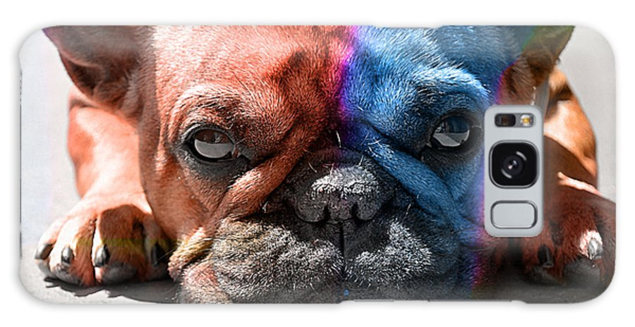 French Bulldog Galaxy S8 Case featuring the mixed media French Bulldog by Marvin Blaine