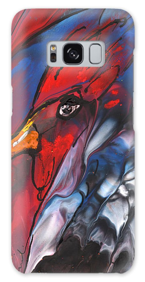 Fantasy Galaxy S8 Case featuring the painting French Cokerel by Miki De Goodaboom