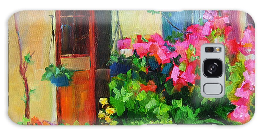 French Door Galaxy S8 Case featuring the painting French Door by Vicki Brevell