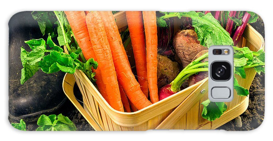 Produce Galaxy S8 Case featuring the photograph Fresh Picked Healthy Garden Vegetables by Edward Fielding