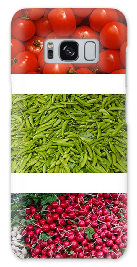 Tomato Galaxy S8 Case featuring the photograph Fresh Vegetable Triptych by Thomas Marchessault