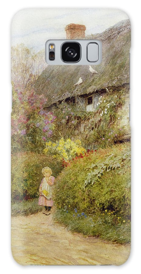 Freshwater Galaxy S8 Case featuring the photograph Freshwater Cottage Wc On Paper by Helen Allingham