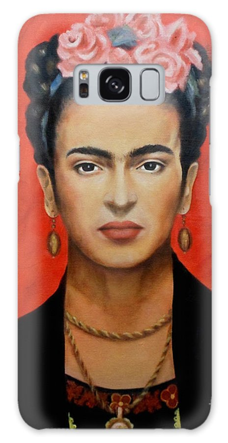 Frida Galaxy Case featuring the painting Frida Kahlo by Yelena Day
