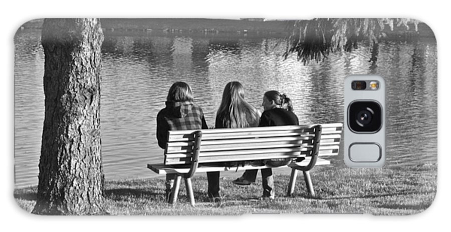 Friends Galaxy S8 Case featuring the photograph Friends In Black And White by Frozen in Time Fine Art Photography