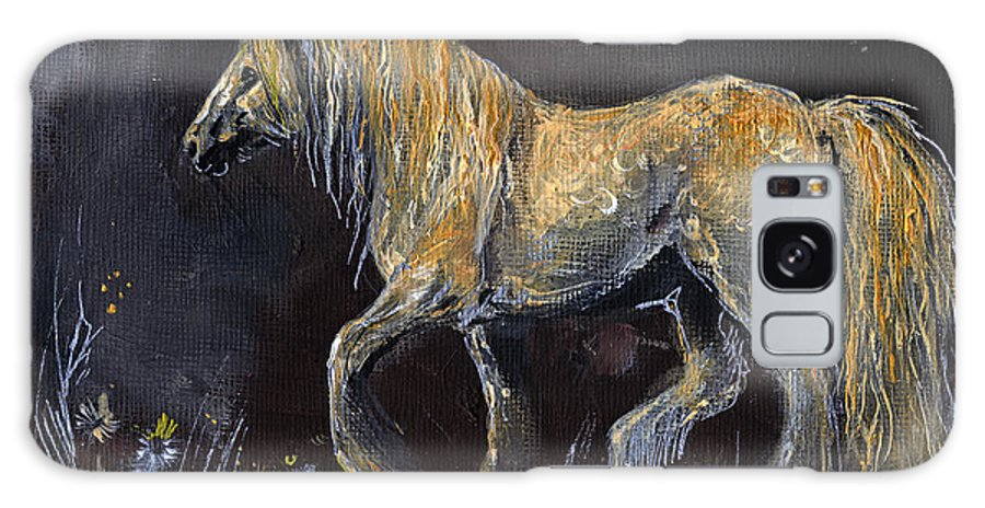 Shire Horse Galaxy S8 Case featuring the painting From The Darkness by Angel Ciesniarska