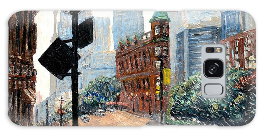 Toronto Galaxy S8 Case featuring the painting Front And Church by Ian MacDonald