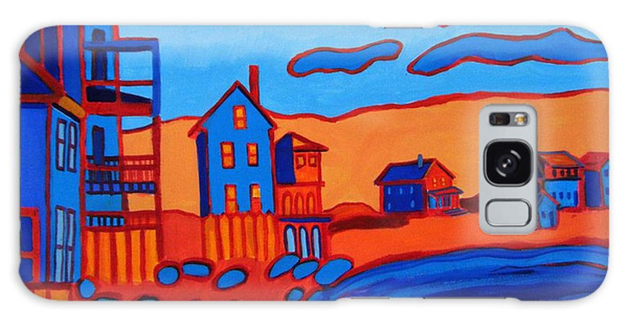 Beach Galaxy Case featuring the painting Front Beach Rockport MA by Debra Bretton Robinson