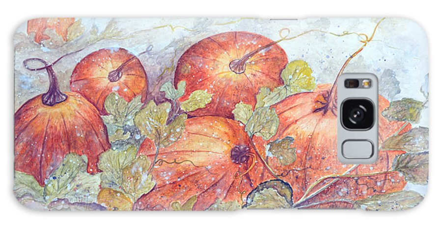 Pumpkin Patch Galaxy Case featuring the painting Frost on the Pumpkin by Ben Kiger