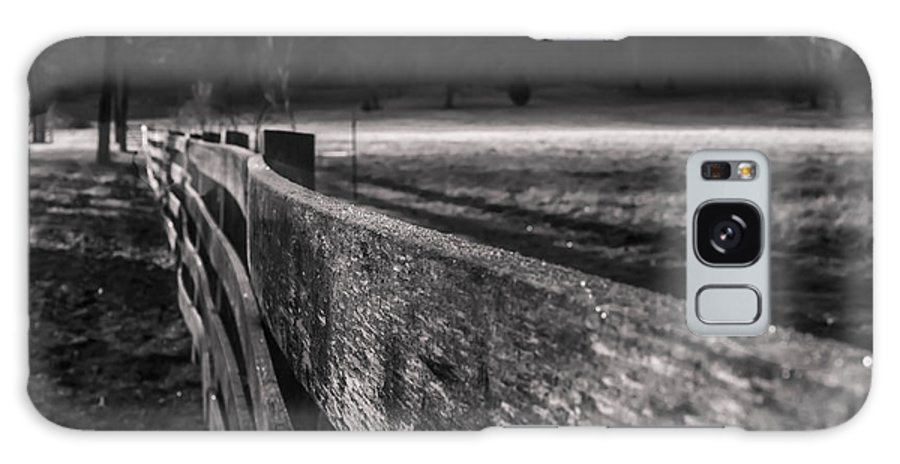 Frost Galaxy S8 Case featuring the photograph frosty fence in rural Indiana by Sven Brogren