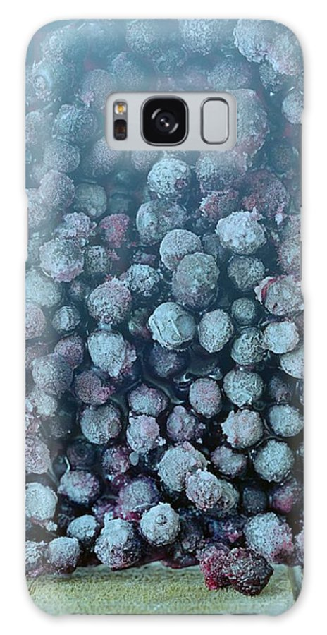 Berries Galaxy S8 Case featuring the photograph Frozen Blueberries by Romulo Yanes