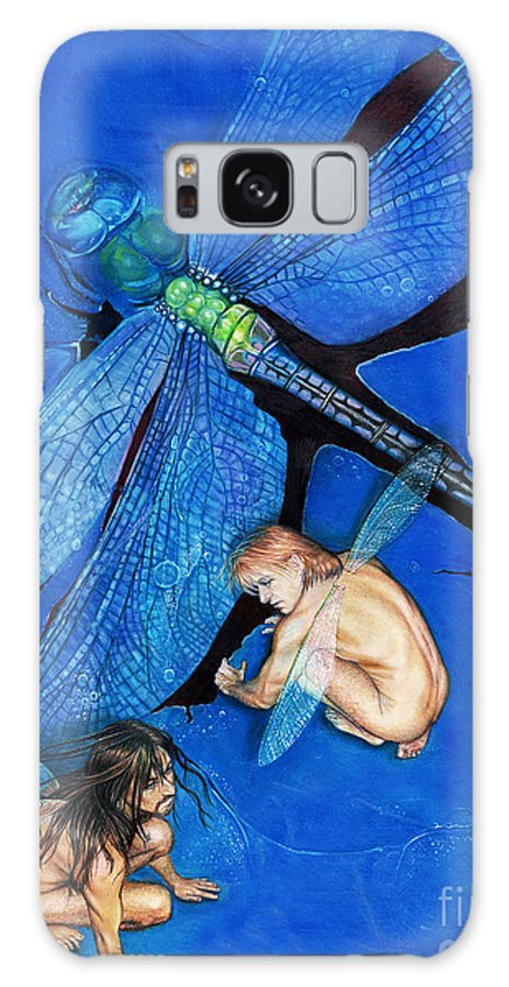 Faeries Galaxy S8 Case featuring the drawing Frozen In Flight @ Ariesartist.com by AriesArtist Com