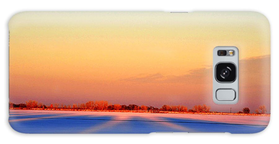 Landscape Galaxy S8 Case featuring the photograph Frozen Lake by Pam Romjue