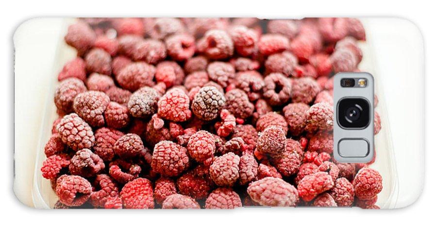 Frozen Galaxy S8 Case featuring the photograph Frozen Raspberries by Frank Gaertner