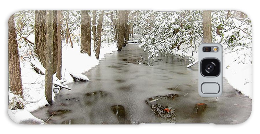 Winter Galaxy S8 Case featuring the photograph Frozen Stream by Gordon Cain
