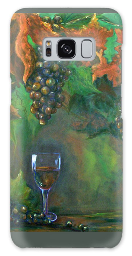 Grapes Galaxy S8 Case featuring the painting Fruit Of The Vine by Sandra Reeves