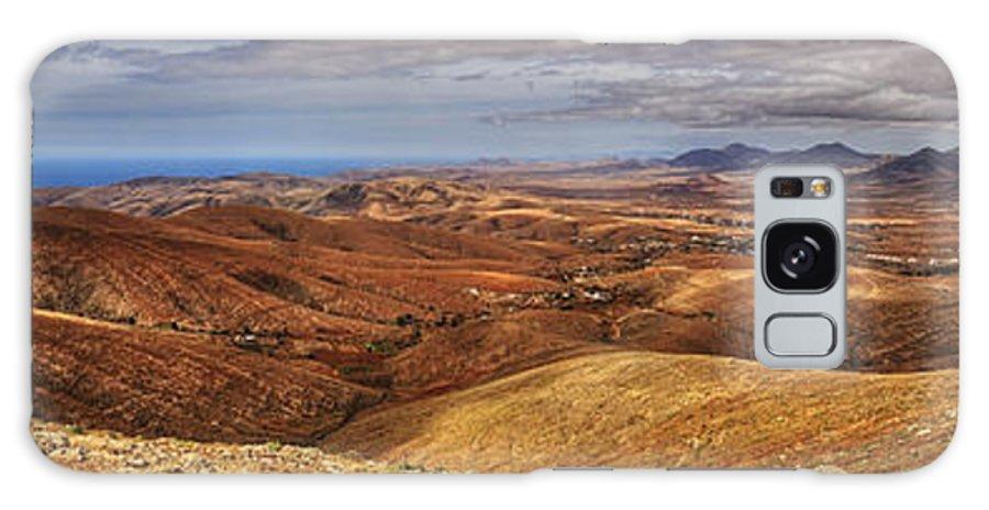 Fuerteventura Galaxy S8 Case featuring the photograph Fuerteventura Iterior Panorama by Julis Simo