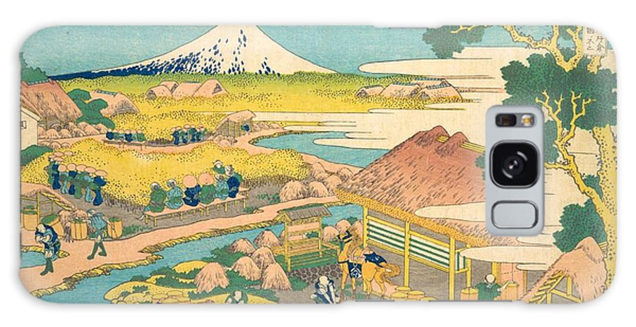1830-1832 Galaxy Case featuring the painting Fuji From The Katakura Tea Fields In Suruga by Katsushika Hokusai