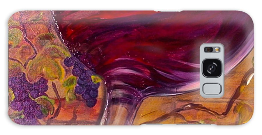 Wine Galaxy S8 Case featuring the painting Full Body by Debi Starr