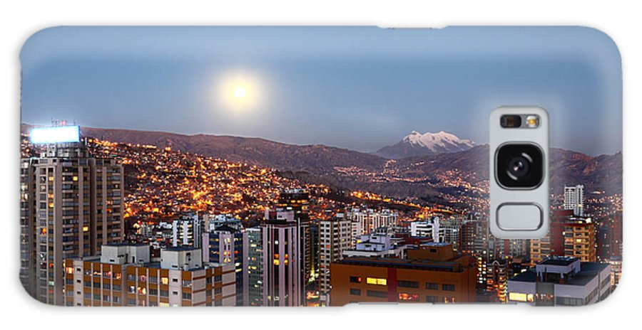 La Paz Galaxy S8 Case featuring the photograph Full Moon Rising Over La Paz by James Brunker