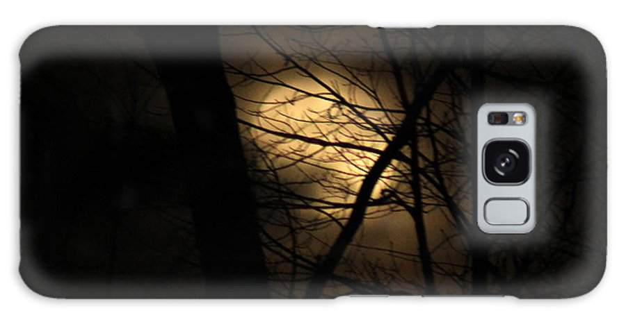 Fog Galaxy S8 Case featuring the photograph Full Moon by Stacey Treadway