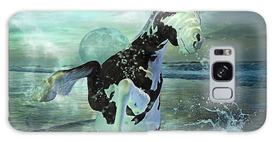 Horse Galaxy S8 Case featuring the mixed media Full Moon Twist And Shout by Betsy Knapp