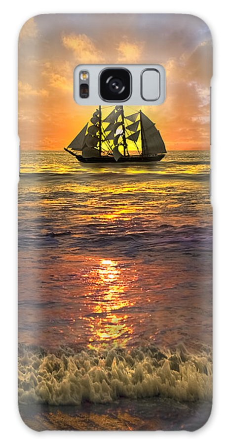 Boats Galaxy S8 Case featuring the photograph Full Sail by Debra and Dave Vanderlaan