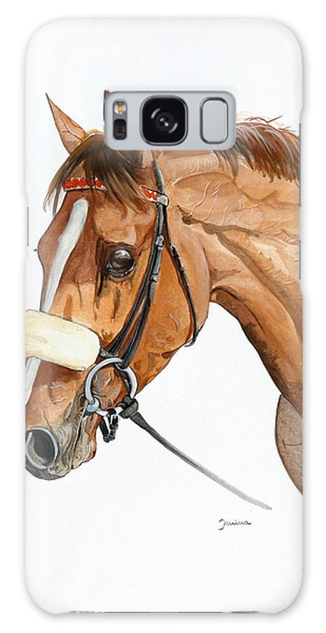 Horse Original Painting Galaxy Case featuring the painting Funny Face by Janina Suuronen