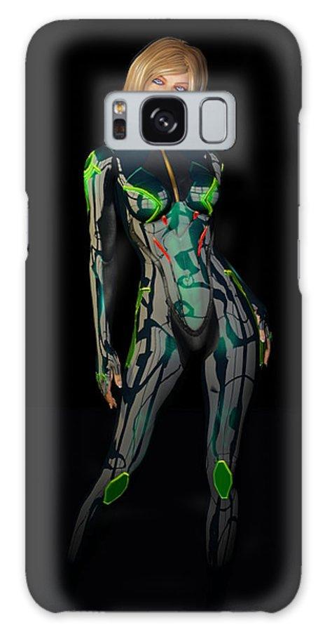 Woman Galaxy S8 Case featuring the digital art Future Woman... by Tim Fillingim