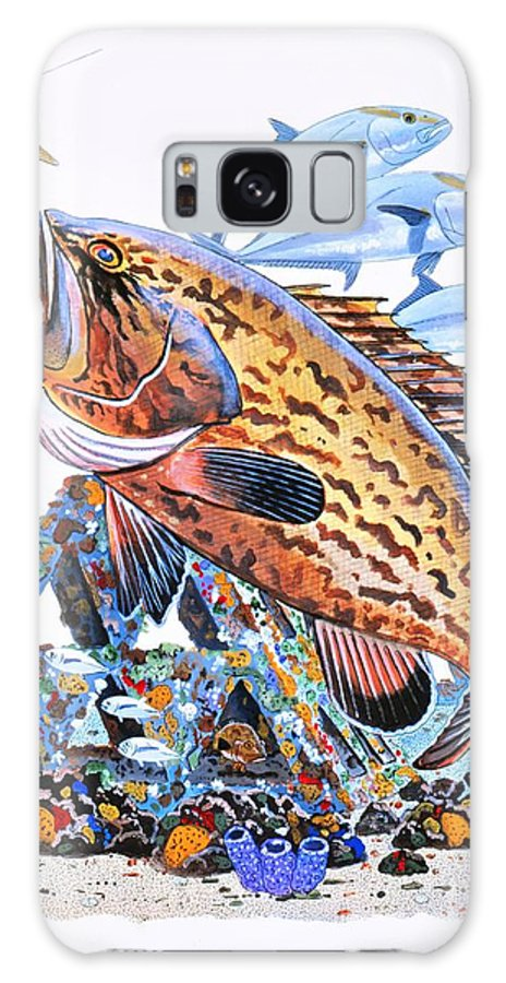 Gag Grouper Galaxy S8 Case featuring the painting Gag Grouper by Carey Chen