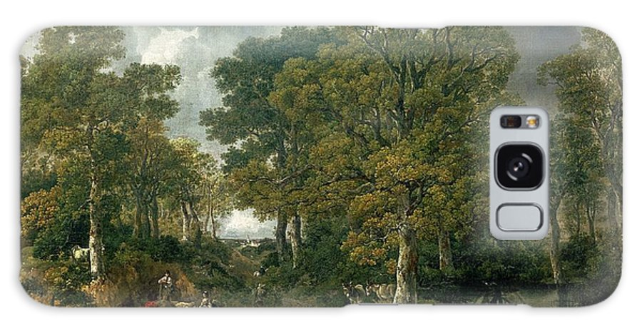 Sudbury Galaxy S8 Case featuring the photograph Gainsboroughs Forest Cornard Wood, C.1748 Oil On Canvas by Thomas Gainsborough