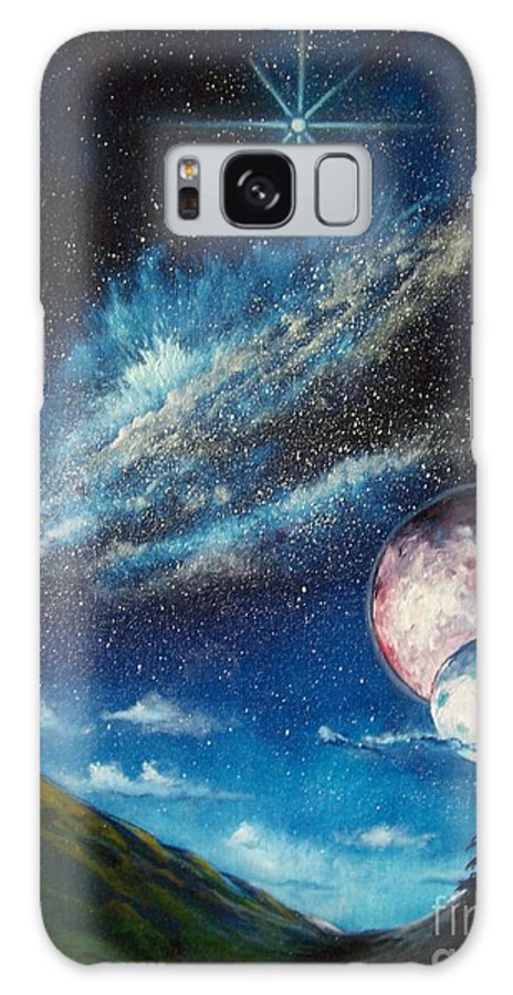 Space Horizon Galaxy Case featuring the painting Galatic Horizon by Murphy Elliott