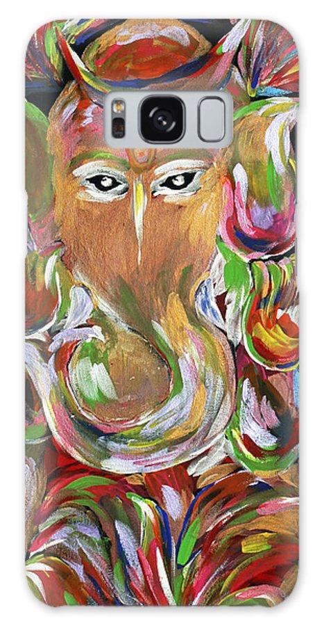 Modern Galaxy S8 Case featuring the painting Ganesha by Kuntal Choksi