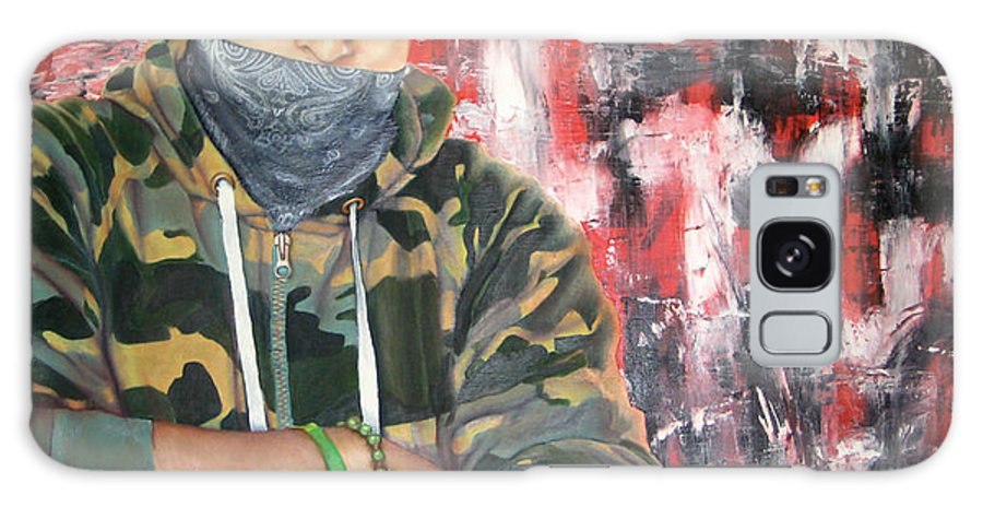 Soldier Galaxy S8 Case featuring the painting Gangster Emotions by Jason Pickens